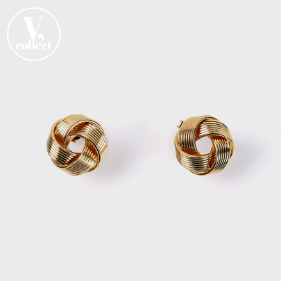 Gold-Tone Twisted Loop Earrings