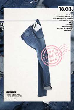 High Waist Slim Fit Ankle Jeans